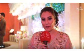 """بالفيديو… فاطمة الزهراء جواهري تكشف لـ""""غالية"""" سر إطلالتها المتميزة بعرس ماريا نديم"""