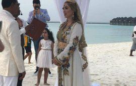 """بالصور.. حفل زفاف أسطوري لمغربية بجزر """"المالديف"""""""