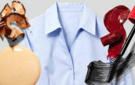 5 حيل للتخلص من بقع المكياج على ملابسك