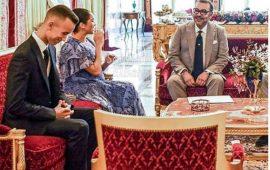 أثناء زيارة الأمير هاري وزوجته للقصر الملكي.. فيديو أبهر المغاربة