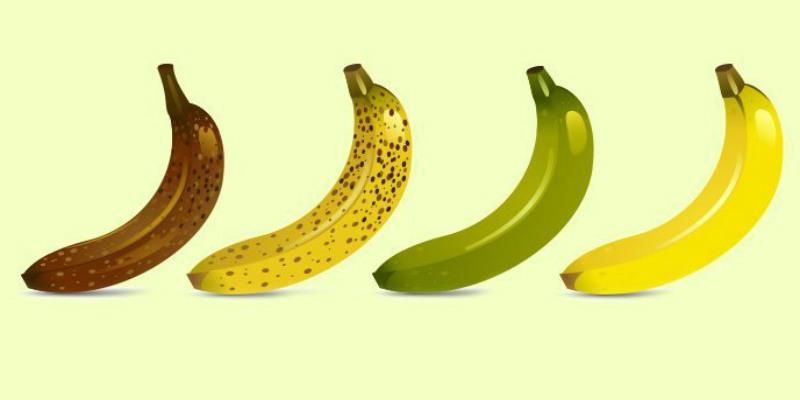 استفيدي من فوائد الموز الصحية حسب لونه