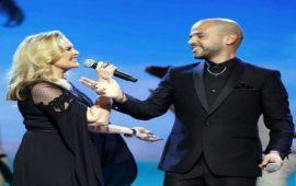 """النجمة يسرا والمغني أبو يحلاّن بالمغرب استعدادا لحفل """"موروكو مول"""""""