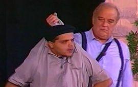"""بعد شائعة موته.. الممثل حسن حسني يشرب """"شيشة"""" مع محمد هنيدي"""