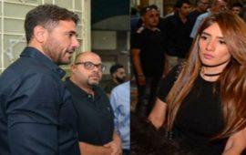 """زينة وشقيقتها تعتديان على أحمد عز بـ""""الجزمة"""""""