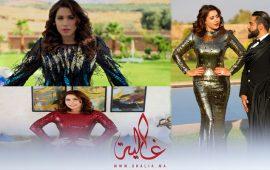 غالية ونص:إطلالات مثيرة وجذابة للنجمة هدى سعد.. فساتين مثيرة من الريش الطبيعي والخرز- صور