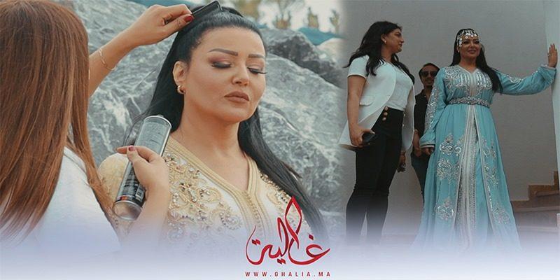 غالية ونص: لقطات مميزة من جلسة تصوير الفنانة المصرية سمية خشاب بالقفطان المغربي- فيديو