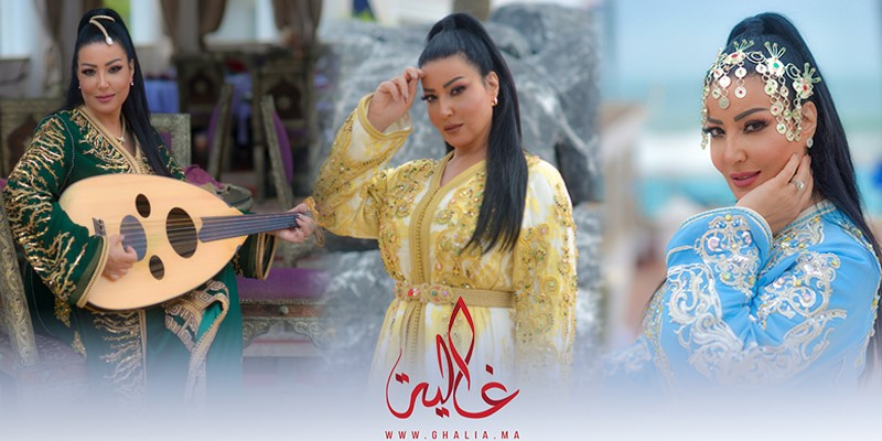 Photo of غالية ونص: النجمة سمية خشاب في أحدث جلسة تصوير في المغرب بالقفطان المغربي- صور