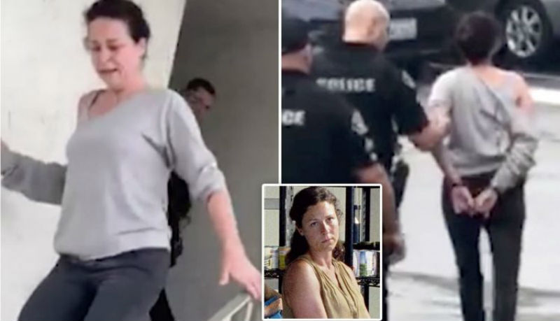صورة لحظة القبض على ممثلة أمريكية شهيرة عقب اعتدائها على امرأة صورتها وهي هائجة