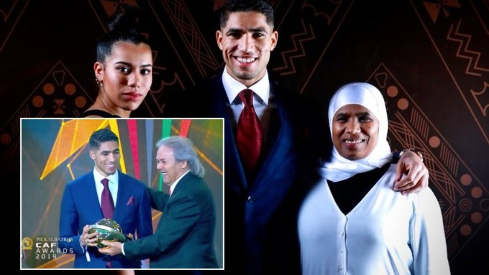 صورة أشرف حكيمي يحصد لقب أفضل لاعب إفريقي صاعد