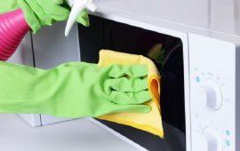 طريقة سهلة لتنظيف داخل الميكرويف