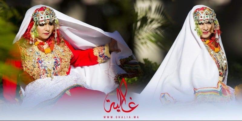 صورة كواليس جلسة تصوير النجمة ماجدولين الإدريسي باللباس التقليدي الأمازيغي – فيديو