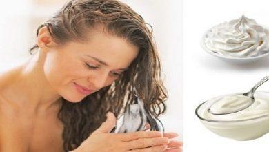 صورة وصفات طبيعية بالزبادي لترطيب وتنعيم الشعر