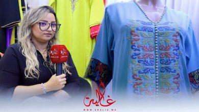 صورة مصممة مغربية تقدم تشكيلة بهية من القفطان العصري -فيديو