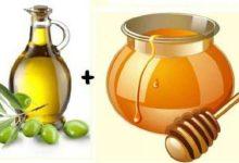 صورة العسل وزيت الزيتون لعلاج لحروق